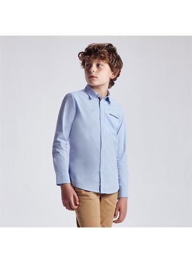 Mayoral Mayoral Erkek Çocuk Uzun Kollu Gömlek Mavi 20373 Mavi